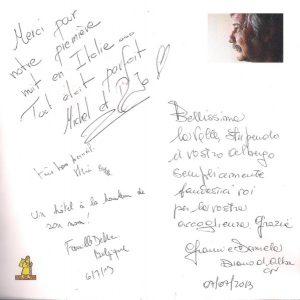 Grazie agli ospiti dell'Hotel Beau Sejour di Etroubles